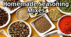 10 Homemade Seasoning Mixes And Blends Recipes - Try these homemade seasoning mix recipes, which are easy to make and can save you a lot of money. Check here for some easy recipes for seasoning mixes. Easy Homemade Recipes, Homemade Spices, Homemade Seasonings, Honey Baked Chicken, Easy Cornbread Recipe, Easy Christmas Candy Recipes, 2 Ingredient Recipes, Cream Recipes, Rub Recipes