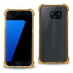 Reiko Samsung Galaxy S7 Transparent Tpu Case With Cushion Shock Absorption Technology-CLEAR GOLD