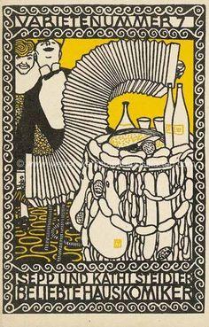 Variety Act Sepp and Kathi Steidler, Popular House Comedians (Varietenummer Sepp und Kathi Steidler, Beliebte Hauskomiker), Moriz Jung (Austrian (born Czechoslovakia) Moravia Manilowa (Carpathians)), Color Lithograph Charles Rennie Mackintosh, Art Nouveau, Art Deco, Glasgow, Vintage Magazine, Fine Art Prints, Canvas Prints, Classic Image, Historical Maps