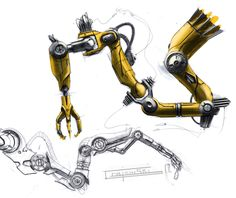 Concept robot art by our friend Christian Grajewski. Keywords: concept medical surgical precision robot robotics art by c. Industrial Robotic Arm, Industrial Robots, Mechanical Arm, Mechanical Design, Robot Tattoo, Robot Sketch, Robotic Automation, Robot Illustration, Industrial Design Sketch