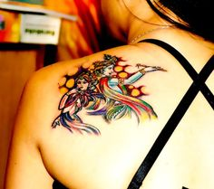 Tattoos by Mohit Tattoos Gone Wrong, Terrible Tattoos, Weird Tattoos, Arm Tattoos For Guys, Rose Tattoos, Tiny Sun Tattoo, Bird Tattoo Ribs, Devil Tattoo, Big Cover Up Tattoos