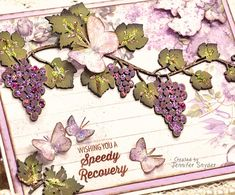 """Scrap Escape: Two Different Looks -Grape Vine Cards With DIY Tutorial Beautiful detailed grapevines  from Creative Embellishments.   Can't paint?  Neither can I.  Don't let that scare you away from chipboard.  Learn the """"Jen Cheat method"""" of chipboard painting.  It's so clean and simple, it will make you smile.  Papers from #Stamperia.  step-by-step on my blog: https://bit.ly/2Niafxs  #chipboard #CreativeEmbellishments #Stamperia #grapevines #DIYcards"""