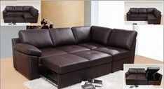Leather Sofa Bed Set