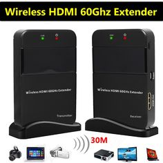 199.99$  Buy here - http://ali4jl.worldwells.pw/go.php?t=32781823865 - 30M 98ft Wireless HDMI 60G Extender Support Full HD 1080P 3D TV Audio Video Sender Transmitter Receiver WIHD HDCP 2.0 DTS-HD
