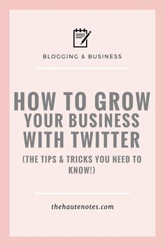 How to Grow Your Business with Twitter - In order to truly grow your business with Twitter, you need to make sure you're adding value to the lives of the people in your target market. Focus on providing high-quality, valuable content at all times. That's the key to getting people to follow you and actually stick around.