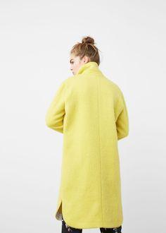 Cotton wool-blend coat