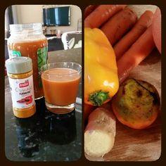 Veggie and fruit juiced....