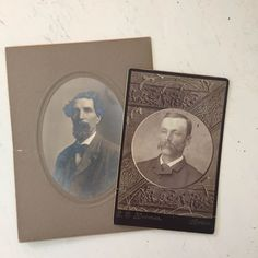 Antique Cabinet Card of Men with Mustaches and Beards by Attic17