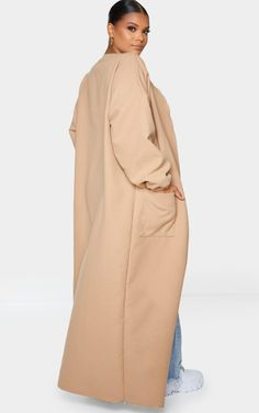 Dior Purses, Balloon Sleeves, Hijab Fashion, Outfit Of The Day, Camel, Winter Fashion, Duster Coat, Balloons, Pockets
