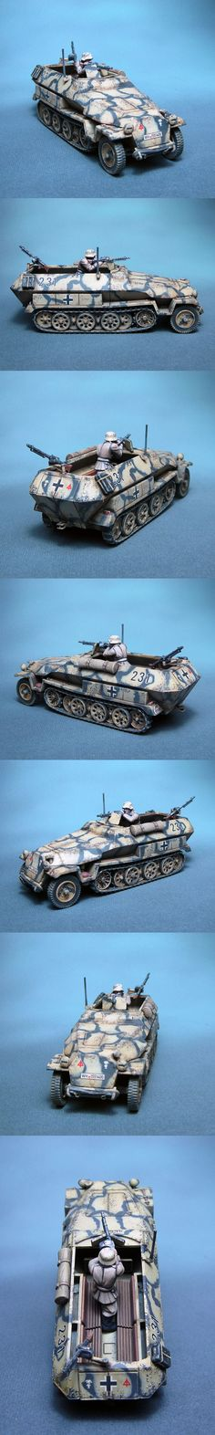 SdKfz 251 Ausf C 15. PzD Afrika Korps Scale: 1/56(28mm) Manufacturer: Warlord Games UK Game: BOLT ACTION Painted by: OMP(Olsianon Miniatures Painting)