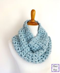 Finger crochet a cowl like this one that @fiberflux made with our sparkly colorway of Wool-Ease Thick & Quick.
