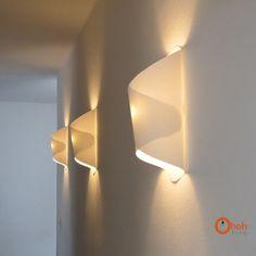 Ohoh Blog: DIY wall paper lamp / Lampara de papel