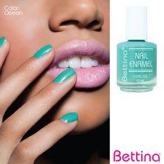 """Una excelente opción para estos días,#Bettina Nail Enamel en color """"Ocean"""".¡Lleva el color del mar a tus uñas!...#nailenamel #nailpolish"""