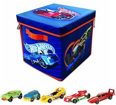Collectible Trading Card Gameplay Accessories - NeatOh ZipBin Hot Wheels 300 Car Storage Cube with a Hot Wheels 5 Car Gift Pack Color and Styles Vary -- Find out more about the great product at the image link.
