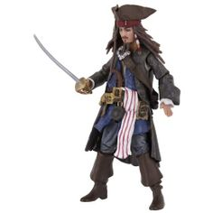 "Pirates Of The Caribbean Basic Figure Wave #2 Jack Sparrow V2 by Pirates of the Carribean. $13.59. Each figure includes unique hidden reveal. Highly detailed 3 3/4"" figures. Play or collect. Hidden reveal activated with included LED accessory. From the Manufacturer                Pirates of the Caribbean: On Stranger Tides Movie Basic figures - Includes 3 3/4"" Scale Jack Sparrow V2 figure with hidden reveal, LED accessory and multiple figure accessories.                      ..."