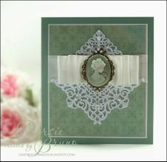 spellbinders a2 tranquil moments | pretty all-occasion card using a cameo and metal embellishments from ...