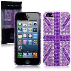 Köp Terrapin Diamantskal iPhone 5/5S UK lila online: http://www.phonelife.se/terrapin-diamantskal-iphone-5-5s-uk-lila