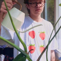 Find this on Cavetown's Website Strawberry Shirt, Music Recommendations, Kids Z, A Silent Voice, Melanie Martinez, Free Prints, My Favorite Music, Photo Cards, Pretty Boys