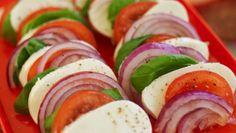 Mozzarellasalat med rødløk