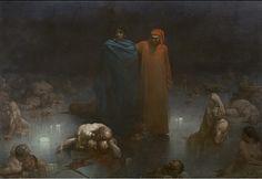 Gustave Doré - Dante et Virgile dans le 9e cercle de l'Enfer