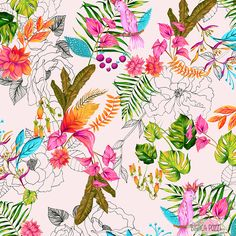 Bianca Pozzi | tropical | Make it in Design Scholarship in association with Print & Pattern | 2016 Scholarship | Top 50 shortlist | http://makeitindesign.com/design-school/scholarship/