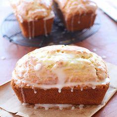 Fresh baked zucchini bread flavored w/ a hint of lemon zest & lemon glaze