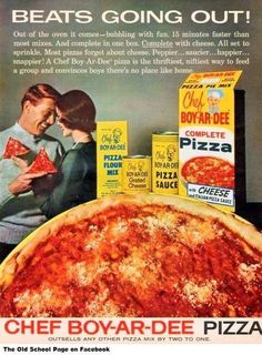 I still love Chef Boy-ar-Dee Pizza!!!! Cheese only, please! Comfort food for me. My kids HATED it. Yum I want one:)