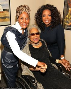 Powerful women: Oprah Winfrey and Cicely Tyson took a moment to pose with author Maya Angelou on her birthday on the weekend as her portrait was unveiled at the Smithsonian National Portrait Gallery in Washington DC Maya Angelou, Oprah Winfrey, Black Girls Rock, Black Girl Magic, My Black Is Beautiful, Beautiful People, I Look To You, Vintage Black Glamour, Famous Black
