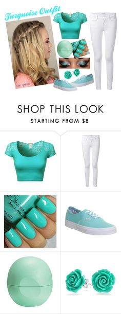 """Turquoise Outfit"" by heather-7-02 ❤ liked on Polyvore featuring Frame Denim, Vans, Eos and Bling Jewelry"