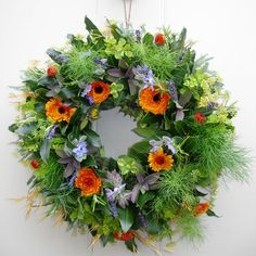 Fresh harvest wreath