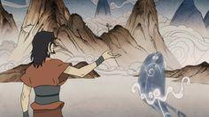 Avatar Wan Waterbending Training.