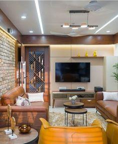 Ethnic Home Decor, Indian Home Decor, Duplex House Design, Modern House Design, Narrow House Plans, Interior Architecture, Interior Design, Wall Units, Tv Units