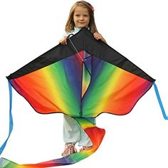 Huge Rainbow Kite For Kids - One Of The Best Selling Toys For Outdoor Games Activities - Good Plan For Memorable Summer Fun - This Magic Kit Comes With Lifetime Warranty & Money Back Guarantee aGreatLife http://www.amazon.com/dp/B012D3PN7G/ref=cm_sw_r_pi_dp_M01bxb1DWQVY9