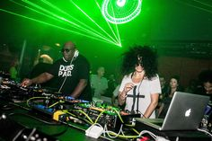Carl Cox and Nicole Moudaber