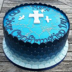 Boys Confirmation Cake