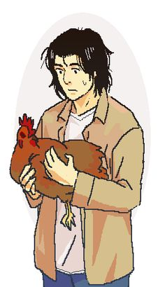dr. kenzo tenma and a chicken by cloverinblue.deviantart.com on @DeviantArt