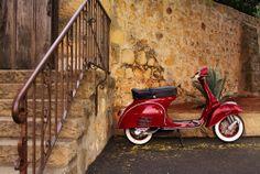 1966 Red Vespa