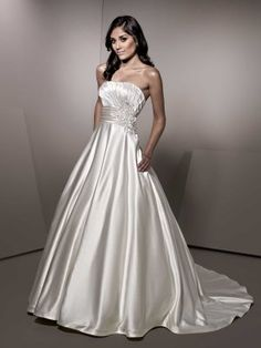Ella Rosa BE152 by Private label by G Satin Ballgown style wedding dress at Papillon Bridal