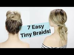 7 easy tiny braid hairstyles are here! This hair tutorial has some super fast and easy hairstyles that can also be heatless! This is a great way to braid for...