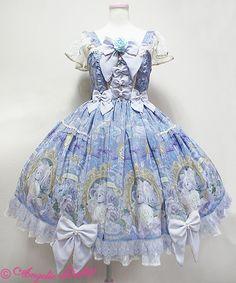 Rose Museum blue jsk (Angelic Pretty)