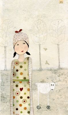 Everything depends on how near you stand to me II ART PRINT by Katherine Quinn