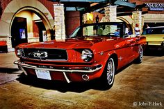 Love this look! '65 convertible #Mustang- candy apple #red #charlyencore