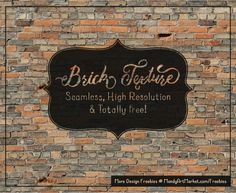 A Free Seamless Old Brick Texture to use in your designs!