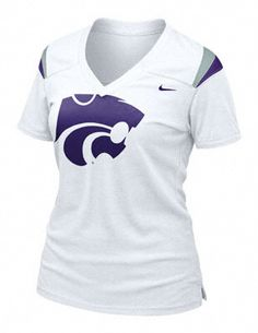 I want this for NEXT football season, when I can actually wear it without a preggo belly Kansas State Wildcats, State University, Hollywood Tonight, Cheerleading Shirts, Fall Outfits, Fashion Outfits, Purple T Shirts, Alma Mater