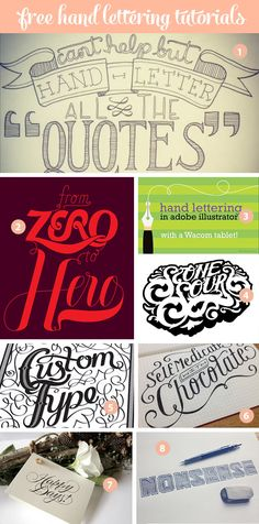 free hand lettering tutorials