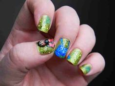 A Bugs Life Nails Greens An Blues