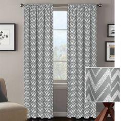 Better Homes and Gardens Textured Chevron Room Darkening Curtain Panel - Walmart.com