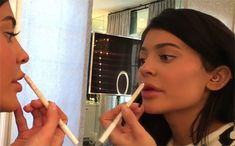 "Kylie Jenner is many things but low maintenance is not one of them. This morning, the 18-year-old makeup junkie posted a seven-and-a-half-minute video to her app meticulously describing each step of her ""everyday glam"" and every product she uses...."