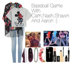 """""""Baseball Game With Cam,Nash,Shawn And Aaron :)"""" by fashionexpert22smilex ❤ liked on Polyvore"""