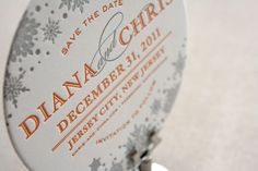 winter wedding coaster save the date